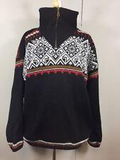 Norsk Wear Norwegian Sweater 100% Wool Quarter Zip Pullover - Unisex/Mens/Womens