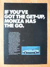 OPEL MONZA 1978 UK Mkt Sales Brochure