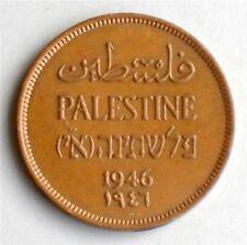 Israel Palestine British Mandate 1 Mil 1946 Coin XF
