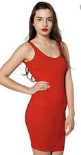 BNWT American Apparel Red Cotton Spandex Jersey Scoop Back Tank Dress M