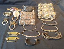 Old Vtg Collectible Furniture Dresser Hardware Handle Pieces Lot