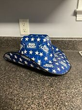BUD LIGHT Cowboy Cowgirl Beer Box Hat Party Drinking Stars USA Budweiser NEW