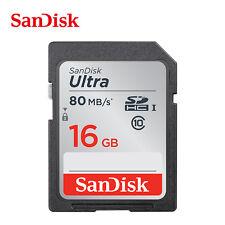 16GB SanDisk Ultra 80MB/s Class 10 SD SDHC HC 533X UHS-I HD Flash Memory Card