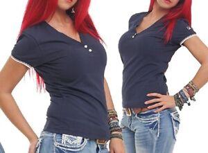 Crew Neck Shirt V-Ausschnitt Damen von FILA