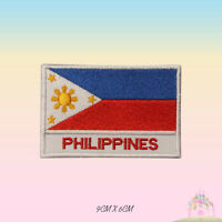 Philippines National Flag With Name Embroidered Iron On Patch Sew On Badge