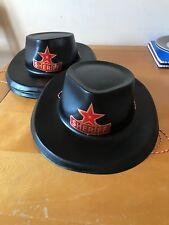 Texas Western PARTY CAPPELLO SCERIFFO CARNEVALE MASCHERA CAPPELLO-look glitter blu