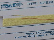 1infilaperle professionali giallo chiaro lungo180 cm con ago rame 9 n°a scelta