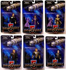 Babylon 5 TV Series 1 Action Figure Set of 6 Londo Sheridan Delenn G'Kar etc.