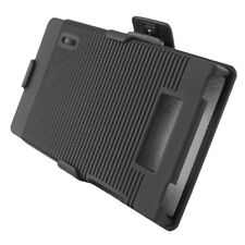 For LG Optimus Showtime L86c COMBO Belt Clip Holster Case Cover Kick Stand Black