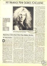 David Lee Roth Pinup rock 80's Van Halen