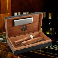 Wood Case Portable Travel Outdoor Humidor Case Cigar Storage Box with Hygrometer