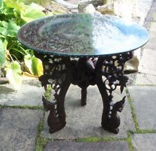 LARGE BEAUTIFULLY CARVED ANTIQUE BALINESE ?? WOODEN SIDE TABLE