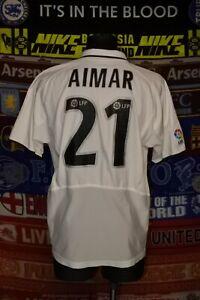 4/5 Valencia adults M 2001 #21 Aimar home football shirt jersey camiseta soccer