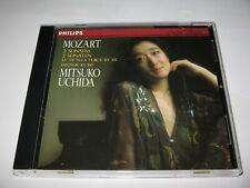 MOZART : 2 SONATAS  MITSUKO UCHIDA (1983) RARE PHILIPS IMPORT CLASSICAL MUSIC CD