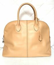 100% Italian genuine leather handbag tote Camel Beige-NEW IN!-MADE IN ITALY