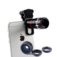 4in1 Camera Lens Kit Telephoto+Fish Eye+Wide Angle+Micro Clip Len for Cell Phone