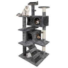 """New listing 52"""" Cat Tree Scratching Condo Kitten Activity Tower with Ball Cave & Ladders"""
