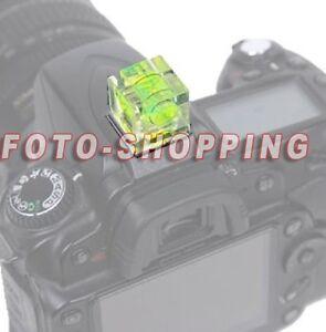 LIVELLA SLITTA FLASH FOTOCAMERA ADTTO PER NIKON DF D810 D800 D750 D500 D610 D600