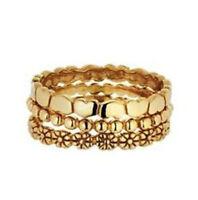 CLEARANCE*Set of 3 Stacker Rings*9ct Gold Plated Sterling Silver*Ring*RRP 29.99