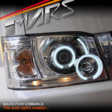 Crystal Clear CCFL Angel Eyes Projector Head Lights for Toyota Hiace VAN 05-11