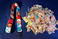 Disney World 25 Pin Trading Lot Lanyard Starter Set Frozen Princess Ana Elsa