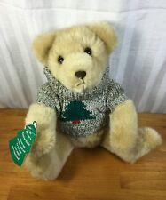 Hallmark Stuffed Plush Trevor Teddy Bear W/ Christmas Tree Sweater
