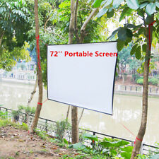 16:9 Hd 72'' Inch Portable Projector Screen Fabric Material Home Outdoor Movies