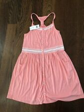 NWT Abercrombie Kids Peach Coral Tank Dress 11/12