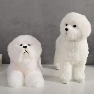 BICHON FRISE PUPPY STUFFED CUTE SIMULATION TEDDY DOG PLUSH BIRTHDAY GIFT TOY ALL
