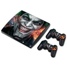 Joker Vinyl Decal Cover Skin Stickers for Sony PS3 Slim Console & 2 Controllers