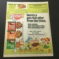 VTG 1979 Keebler Rich'n Chips, C.C. Biggs & Coconut Chocolate Drop Ad Coupon