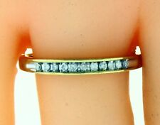 New 10k Solid Yellow Gold 0.1 Carat Diamond Ring Band 2.4 Gr Size 9