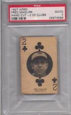 1927 W560 FRED MAGUIRE  PSA 2 2 OF CLUBS