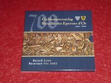BELGIQUE BATAILLE EPERONS D'OR BU-SET 2002 COFFRET MONNAIES FDC EUROS + Médaille