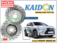 "Lexus NX200T brake disc rotor KAIDON (Rear) type ""BS"" / ""RS"" spec"