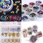 1Box Colorful Shiny Nail Art Glitter Powder Dust For UV GEL Acrylic Powder Decor