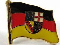 Saarland Flaggen Pin Anstecker,1,5 cm,Neu mit Druckverschluss