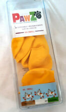 Pkg. of 7 PAWZ Natural Rubber Waterproof Dog Boots XXS Bright Yellow SlipOn NIP