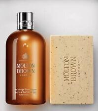Molton Brown Recharge Black Pepper Bath & Shower Gel 300ml & Body Scrub Bar 250g