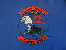90s Vintage SweatShirt 101st Aviation Charlie Company Eagle Assault Ghost Riders
