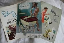 Silver Cross Dolls pram Catalogues 1951 1953 1955; Copies from archive originals