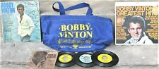 Bobby Vinton Collectibles Lot: Tote Bag, 2 Lps. 4 45rpm records & picture sleeve
