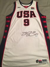 2003-04 LEBRON JAMES Game Worn Used Signed Team USA Jersey Rookie RC UDA 5447a8e49