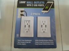 2 PACK FEIT FEIT ELECTRIC WALL OUTLETS WITH 2 USB PORTS