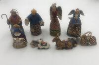 Jim Shore Heartwood Creek Enesco 8 Nativity Pieces New