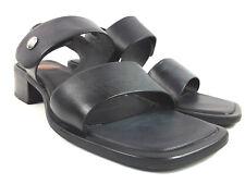 Harley Davidson Women's Black Slot leather Sandals shoes 81492 size 8 US Brazil