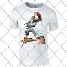 Street Fighter premium white t shirt fighting game memorabilia Ryu 100% cotton