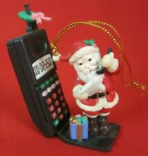 1995 Cell Phone Christmas Ornament 90s Old Time Antenna Santa Lustre Fame No Box