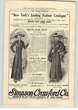 1909 Paper Ad Simpson Crawford Co Fashion Catalogue  Stetson Fall Shoes