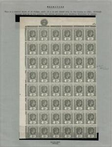MAURITIUS: Sg 252c Olive-Grey Block of 48 Ex-Old Time Collection - Page (42749)